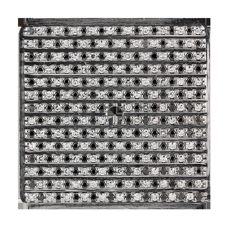 Cartier Santos 100 Large Black and White Diamond Pavé Custom Dial