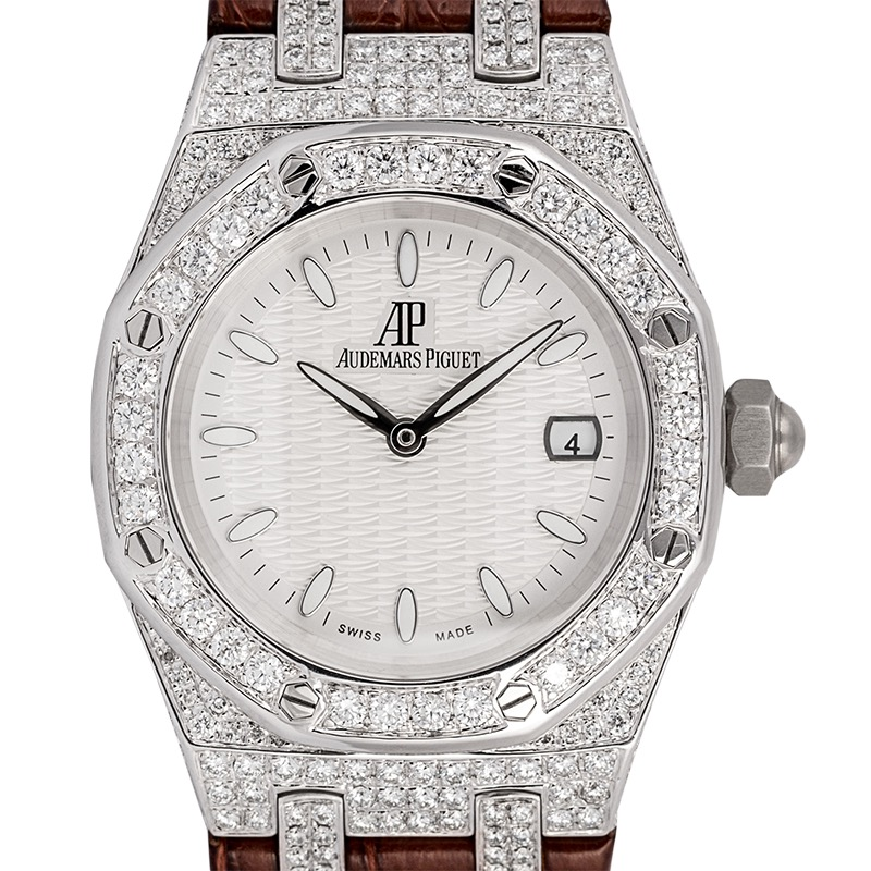 Custom Diamond Set Audemars Piguet Lady Royal Oak 33 Quartz Watch 67651ST.ZZ.D002CR.01