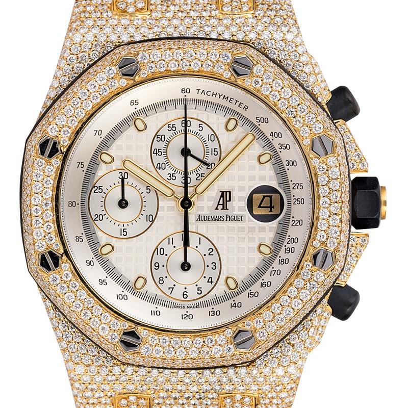 Custom Diamond Set Audemars Piguet Royal Oak Offshore 42mm Yellow Gold
