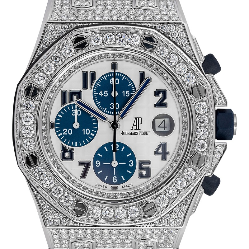 Audemars Piguet Royal Oak Offshore 42mm Diamond Set White/Blue Dial 26170ST.OO.D305CR.01