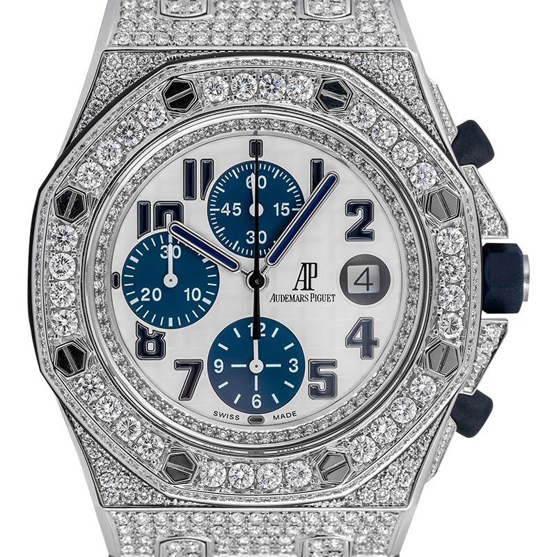 Audemars Piguet Royal Oak Offshore 42mm Diamond Set White/Blue Dial 26170ST.OO.D305CR.01