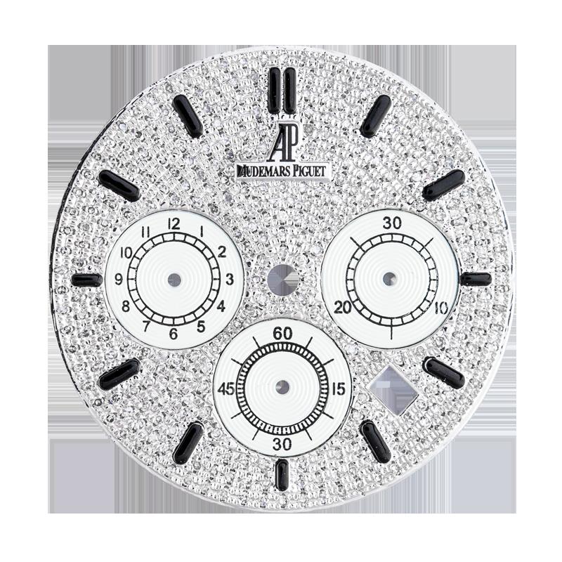 Audemars Piguet Royal Oak 41mm Steel Diamond Pavé Custom Dial