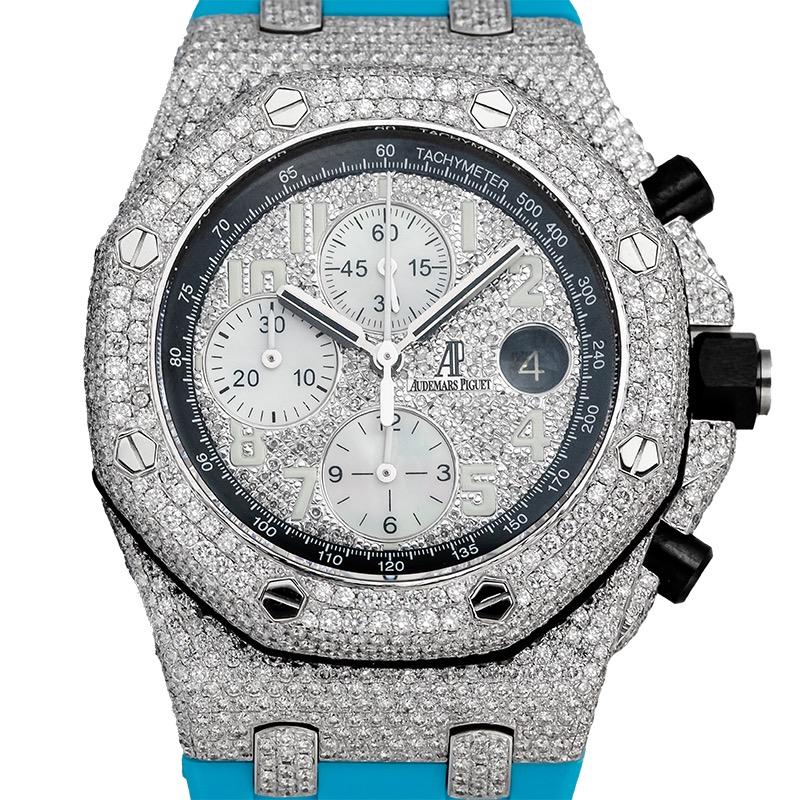 Custom Diamond Set Audemars Piguet Royal Oak Offshore Blue Dial 26470ST.OO.A101CR.01