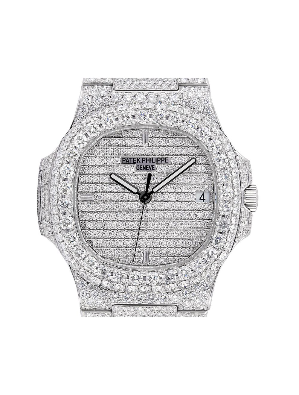 nouveau produit 24a64 79bc2 Custom Micro Diamond Set Patek Philippe Nautilus 5711