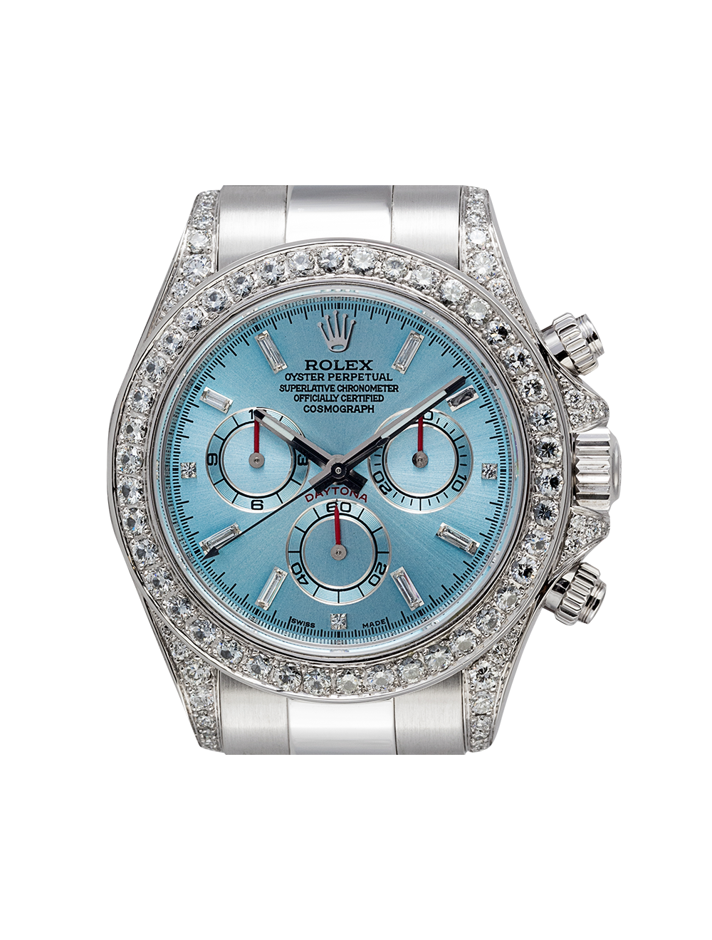 Rolex Daytona White Gold Ice Diamonds Diamond Set Custom Watch 116509