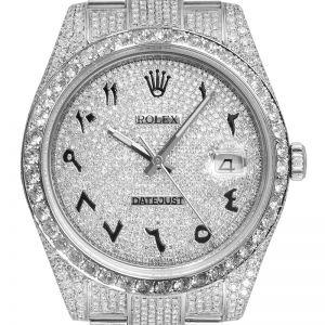 Custom Diamond Set Rolex Datejust 41 116300 Diamond Paved Dial