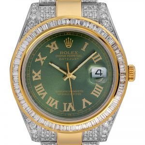 Rolex Datejust II Steel and Yellow Gold 116333 Custom Diamond Set
