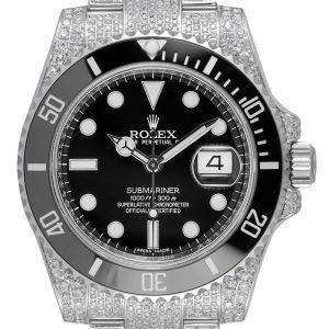 Custom Diamond Set Rolex Submariner Date 116610LN