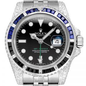Custom Diamond Set Rolex GMT-Master II 116710LN