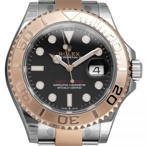 Rolex Yacht Master Steel and 18ct Everose Gold Black Dial 126621 Watch