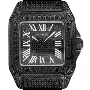 Cartier Santos 100 Large Black/White Roman Numerals Dial Steel 38mm W20073X8