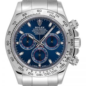 Rolex Daytona 18ct White Gold Blue Dial 116509
