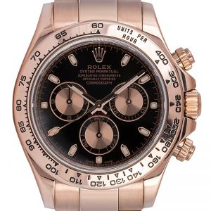 Rolex Daytona 18ct Everose Gold Black/Pink Dial 116505
