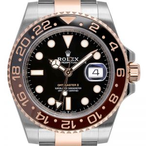 Rolex GMT-Master II Steel and Everose Gold Black Dial