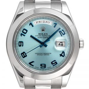 Rolex Day-Date II Platinum Ice-Blue Dial 218206
