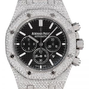 Custom Diamond Set Audemars Piguet Royal Oak Chronograph Black Dial