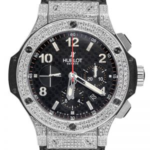 Hublot Big Bang 44mm Steel Custom Diamond Set Watch 301.SB.131.RX