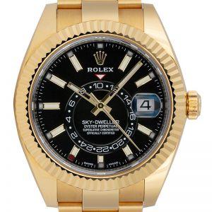 Rolex Sky-Dweller 18ct Yellow Gold Black Dial 326938