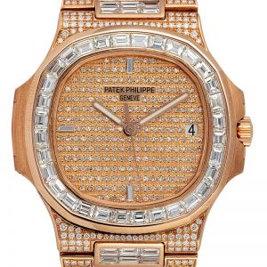 Custom Diamond Set Patek Philippe Nautilus 5711/1R-001 Rose Gold Watch