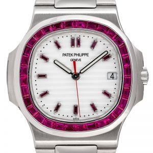 Patek Philippe Nautilus 5711 Steel with custom Ruby Bezel and Dial