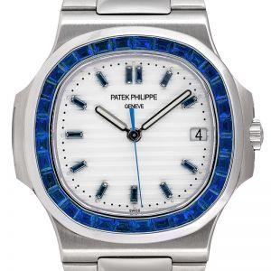 Custom Sapphire Patek Philippe Nautilus 5711 Steel Watch