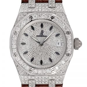 Audemars Piguet Lady Royal Oak 33 Quartz Diamond Set Watch 67651ST.ZZ.D002CR.01