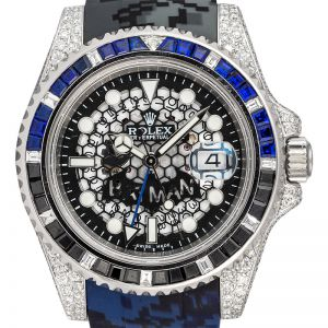 Rolex GMT-master II 116710LN Custom Diamond Set Batman Dial