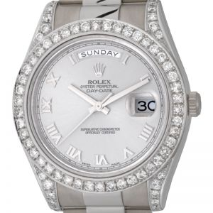 Rolex Day-Date ll White Gold Diamond Bezel 218239