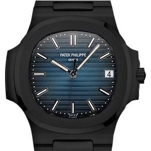 Custom Black PVD Patek Philippe Nautilus 5711/1A Blue Dial