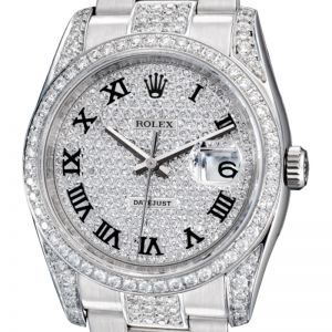 Rolex DateJust 36mm Steel Fully Diamond Set 116200