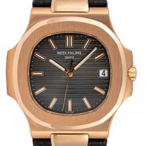 Patek Philippe Nautilus 5711R Rose Gold on Leather Strap