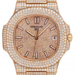 Custom Diamond Set Patek Philippe Nautilus Rose Gold 5711/1R Watch