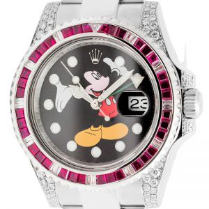 Rolex GMT-Master II Stainless Steel Ruby Mickey Mouse Dial 116710LN