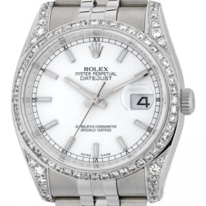 Rolex DateJust 36mm Steel Round Brilliant Diamonds 116200