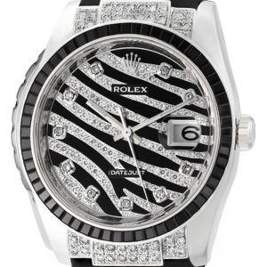 Rolex DateJust Royal Diamond Bezel Pave Dial 116200