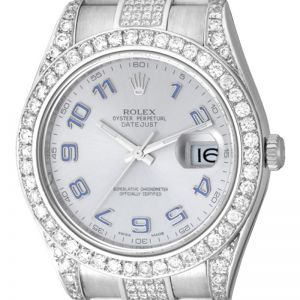 Rolex DateJust II 41mm Steel Round Brilliant Diamonds 116334