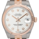 Rolex DateJust 31 bi-metal Steel & Everose Gold White/Diamond dial 178271