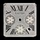 Cartier Santos 100 Chrono XL Diamond Pavé Custom Dial