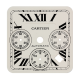 Cartier Santos 100 Chrono XL White/Black Roman Numerals Custom Dial