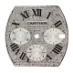 Cartier Roadster Chronograph XL Diamond Pavé Custom Dial
