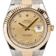 Rolex Datejust II Steel and Yellow Gold Champagne/Diamonds Oyster 116333