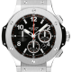 Hublot Big Bang 44mm Steel Watch with Rubber Strap 301.SX.130.RX