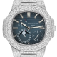 Patek Philippe Nautilus 5712 in Steel Full Custom Diamond Set