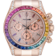 Rolex Daytona 18ct Everose Gold Custom Rainbow Diamond Paved Dial 116505