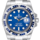 Rolex Submariner Date 18ct White Gold with Custom Blue Bezel 116619LB
