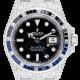 Rolex GMT-Master II Stainless Steel Micro Diamond Set with Custom Black/Blue Bezel 116710BLNR
