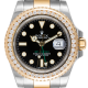 Rolex GMT-Master II Steel and Yellow Gold with custom diamond bezel 116713LN