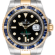 Rolex GMT-Master II Steel and Yellow Gold with custom Blue bezel 116713LN