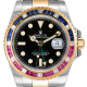 Rolex GMT-Master II Steel and Yellow Gold with custom Pepsi bezel 116713LN