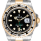 Rolex GMT-Master II Steel and Yellow Gold with custom White/Black bezel 116713LN